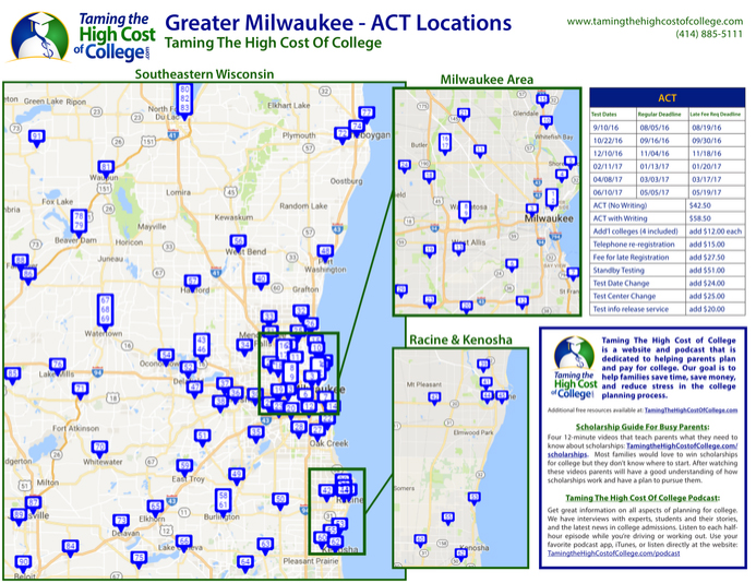 Greater Milwaukee - ACT Test Center Locations